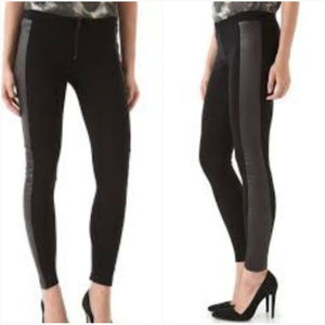 alice + olivia Leggings with Leather Panels